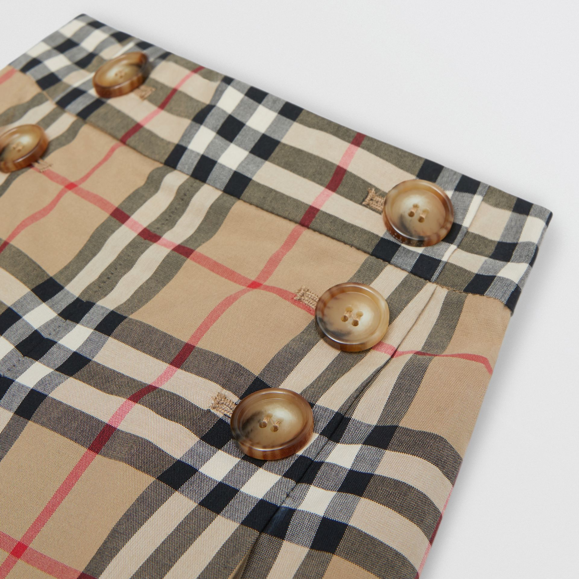 Vintage Check Cotton Sailor Trousers in Archive Beige | Burberry - gallery image 1
