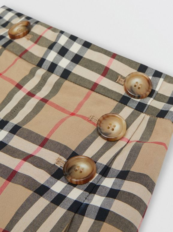 Vintage Check Cotton Sailor Trousers in Archive Beige | Burberry - cell image 1