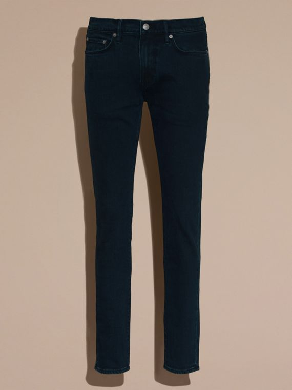 Dark indigo Slim Fit Over-dyed Stretch Jeans - cell image 3
