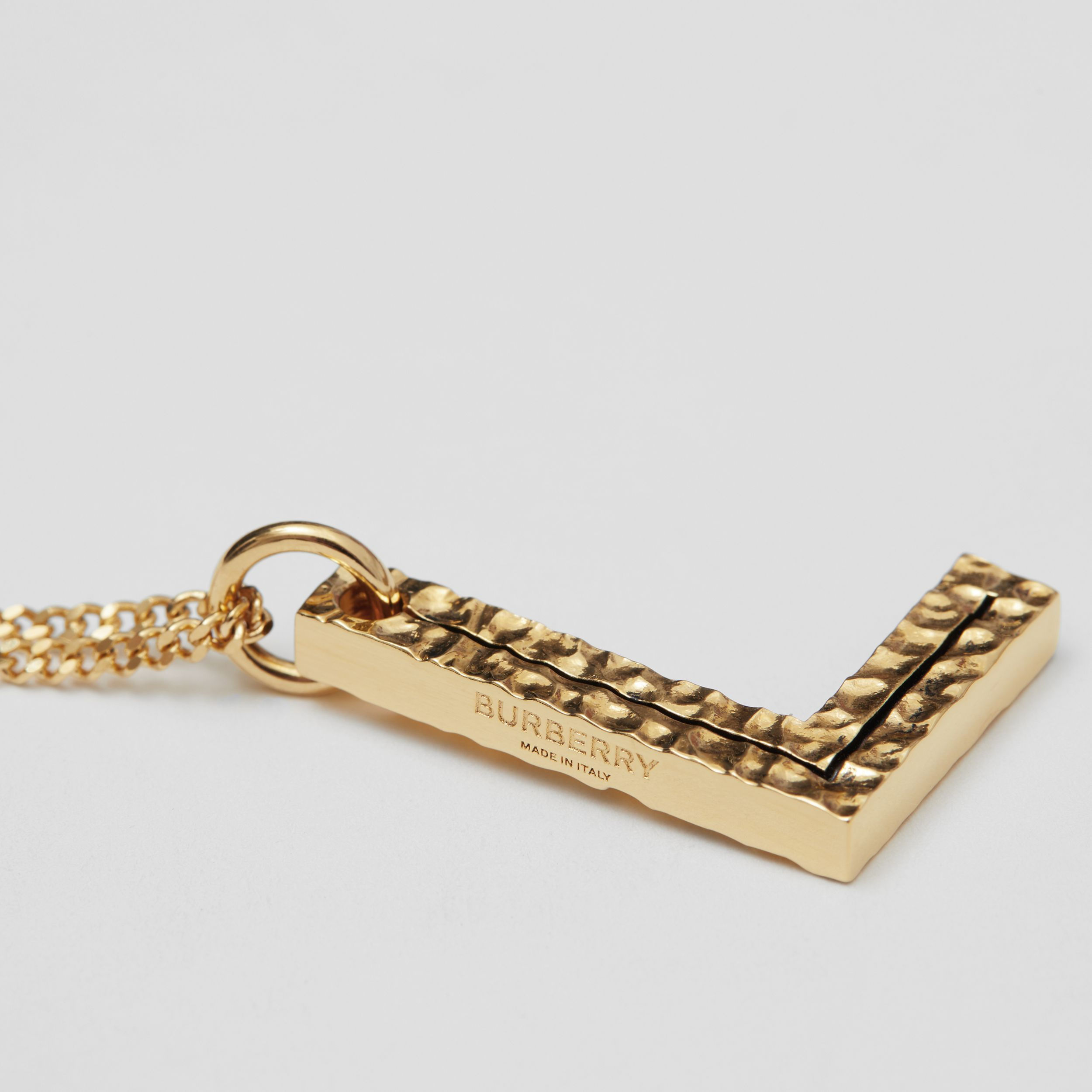'L' Alphabet Charm Gold-plated Necklace in Light - Women | Burberry - 2