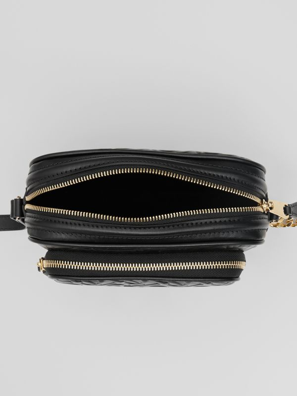 Monogram Leather Camera Bag in Black - Women | Burberry United Kingdom - cell image 3