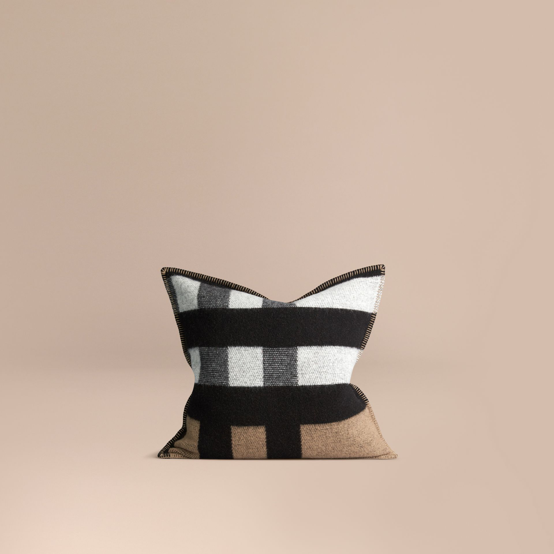 House check/black Check Wool Cashmere Cushion Cover House Check/black - gallery image 1