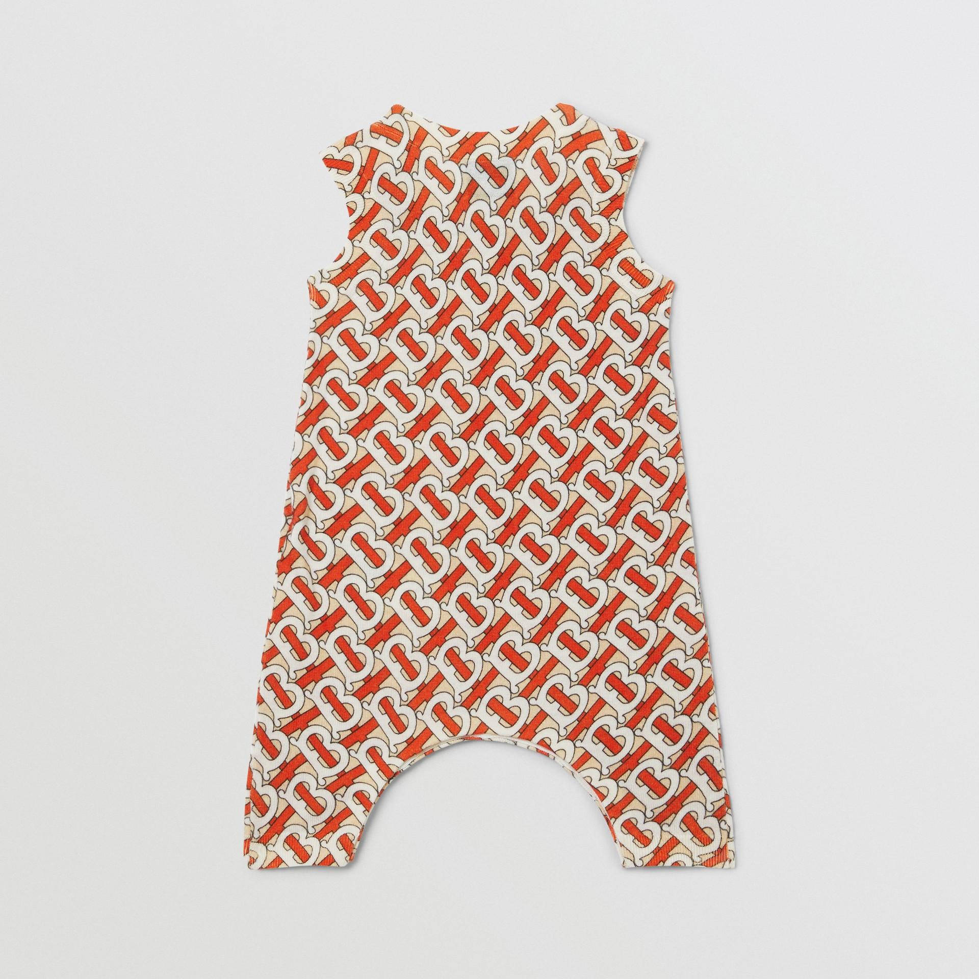Monogram Print Merino Wool Two-piece Baby Gift Set in Vermilion - Children | Burberry - gallery image 7