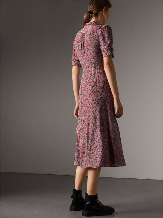 Floral Silk Tea Dress in Pale Rose - Women | Burberry - cell image 2
