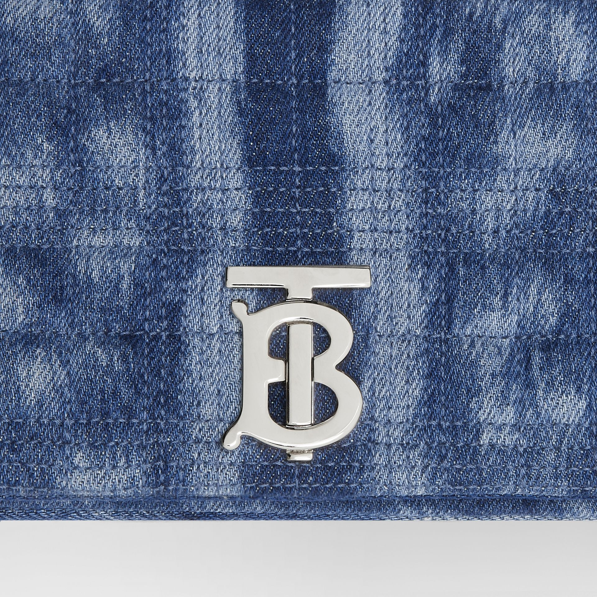 Small Quilted Denim Lola Bag in Blue | Burberry - gallery image 1