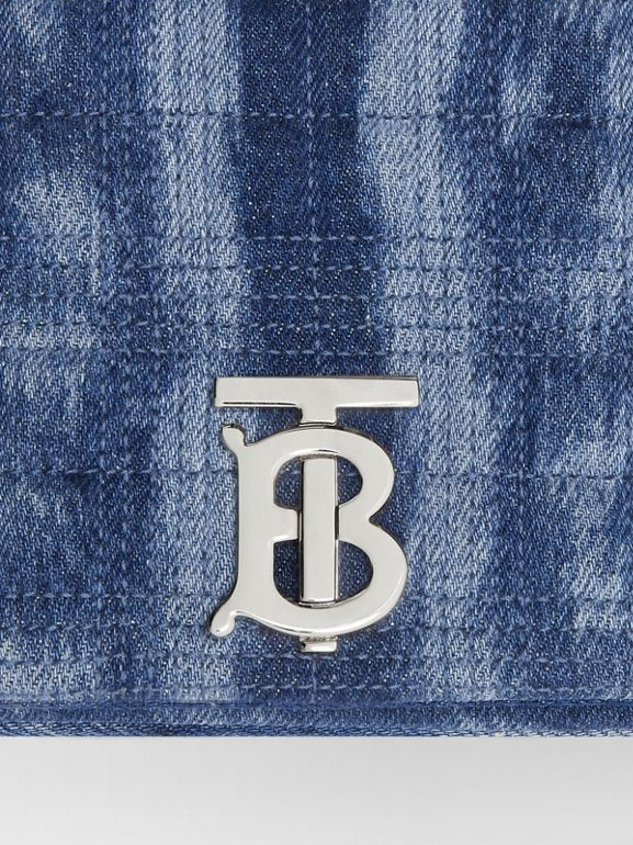 Small Quilted Denim Lola Bag in Blue | Burberry - cell image 1