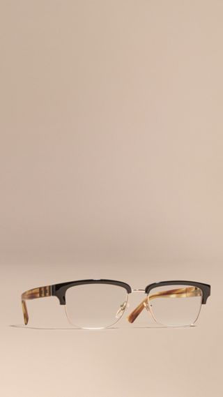 Half-rimmed Oval Optical Frames
