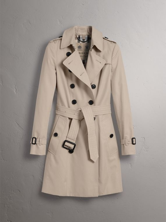 The Chelsea – Mid-length Trench Coat in Stone - Women | Burberry Australia - cell image 3