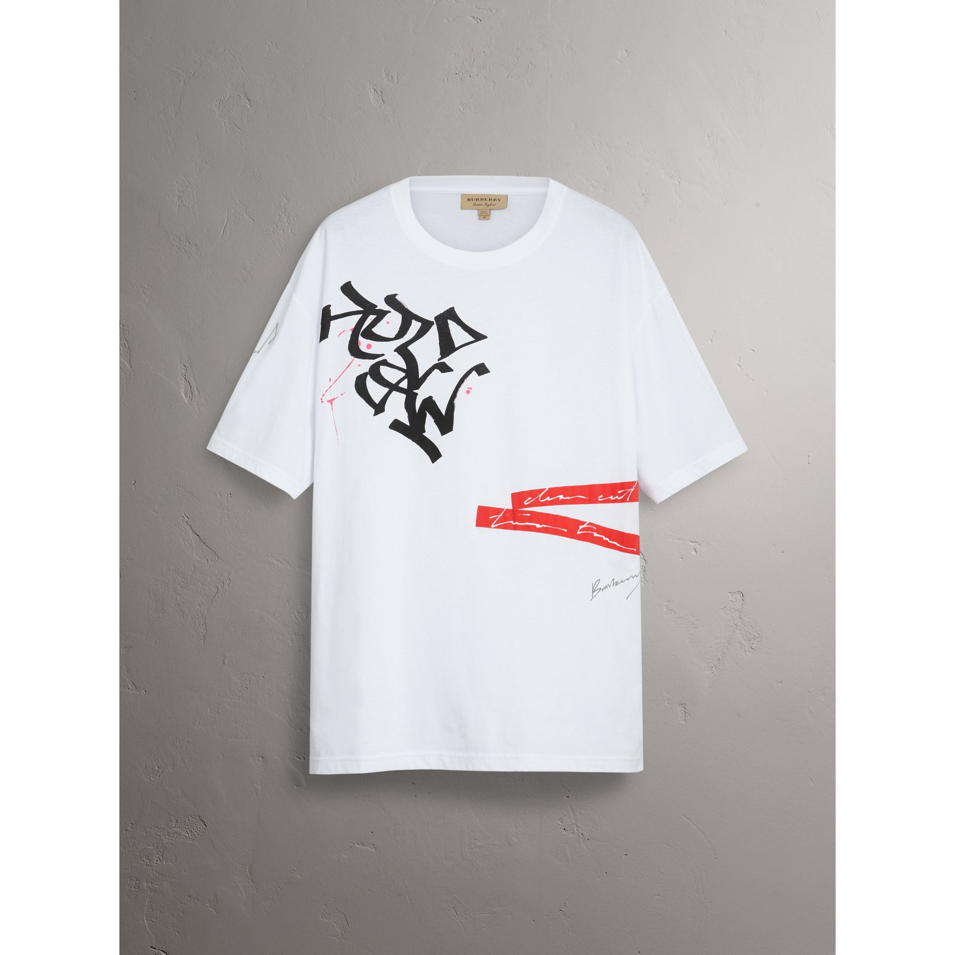 Burberry x Kris Wu Printed Cotton T-shirt in White - Men | Burberry United States - gallery image 3