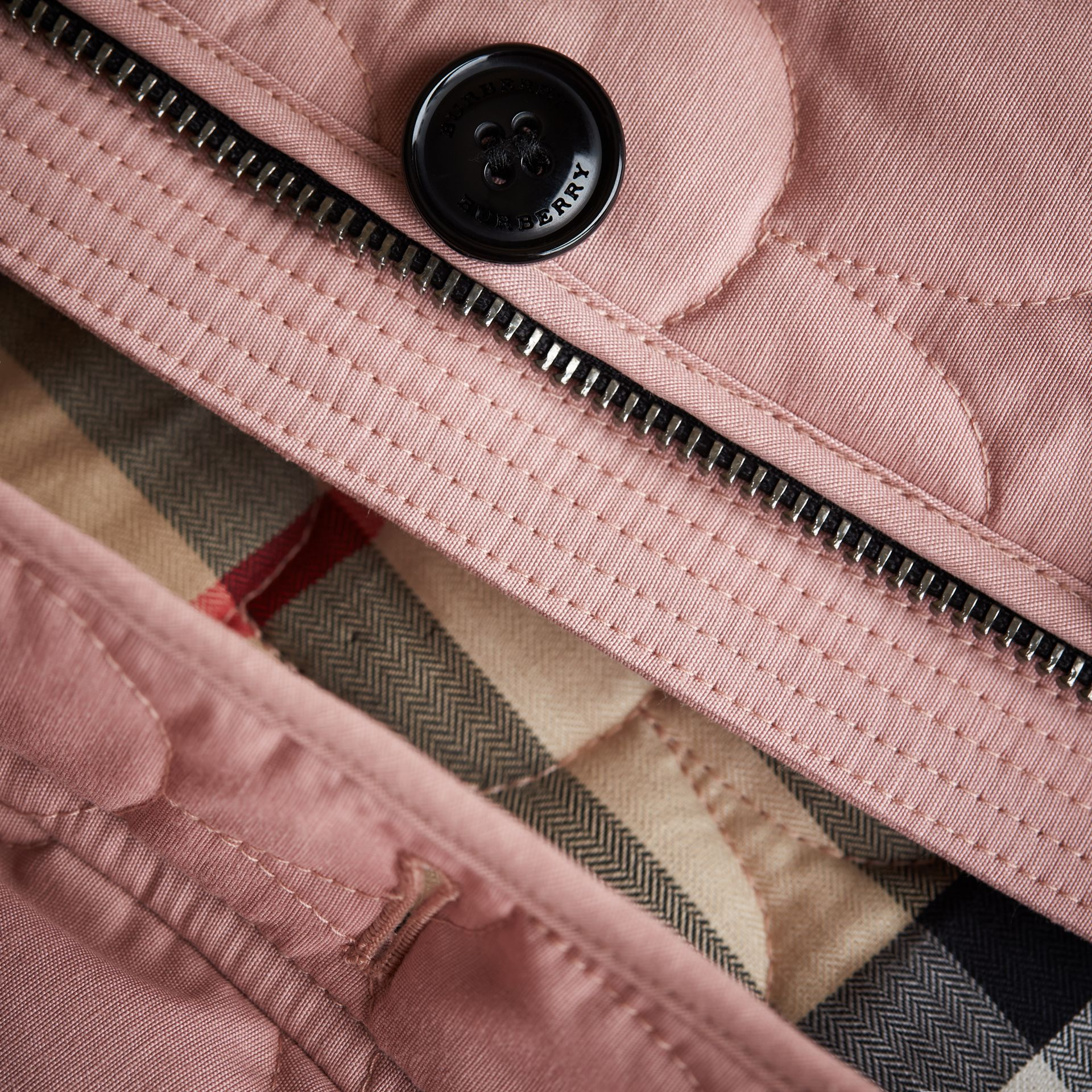 Collarless Scallop-quilted Jacket in Pale Rose | Burberry Australia - gallery image 2