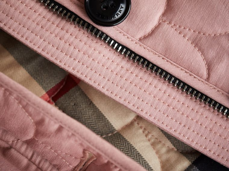 Collarless Scallop-quilted Jacket in Pale Rose | Burberry - cell image 1