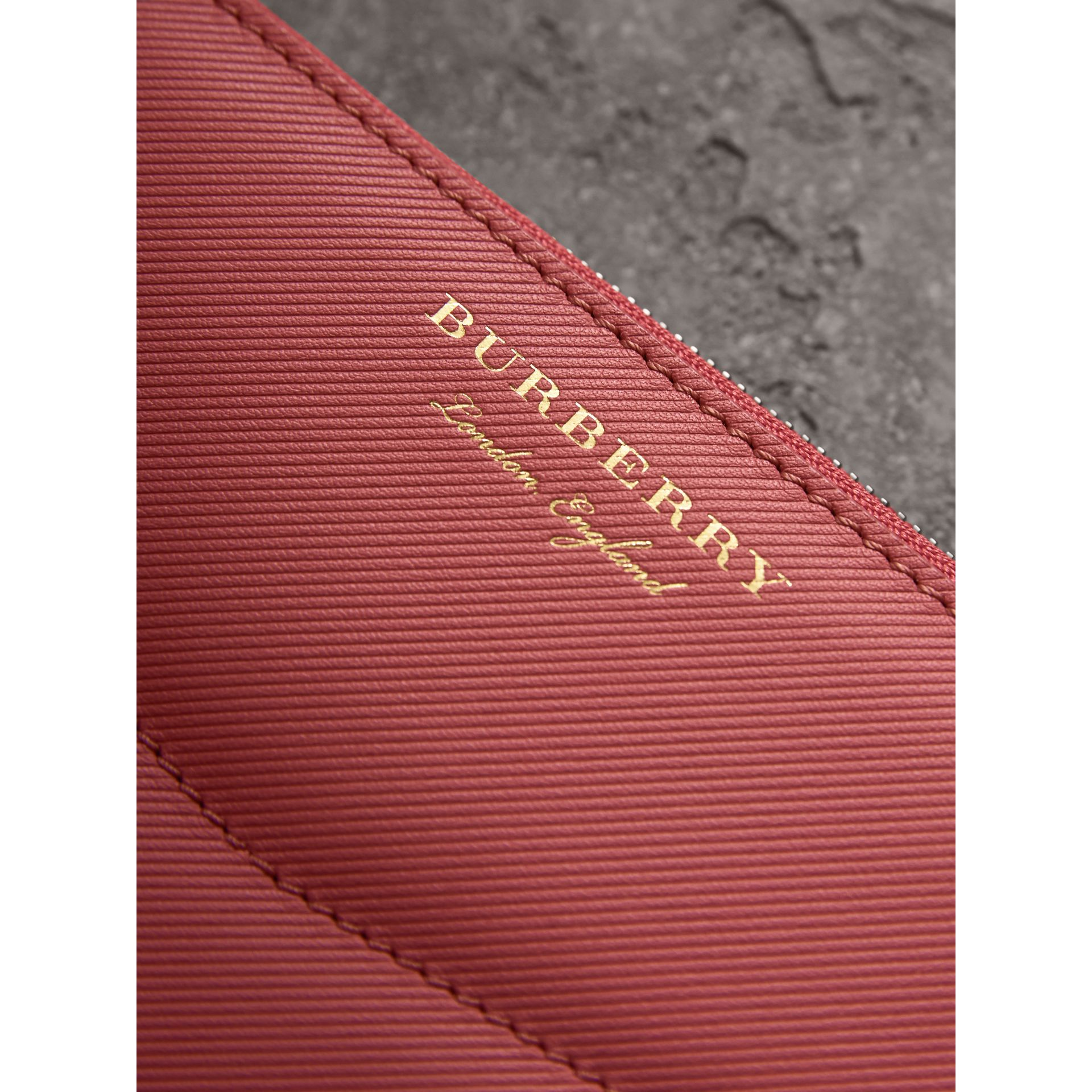 Two-tone Trench Leather Ziparound Wallet in Blossom Pink - Women | Burberry - gallery image 1