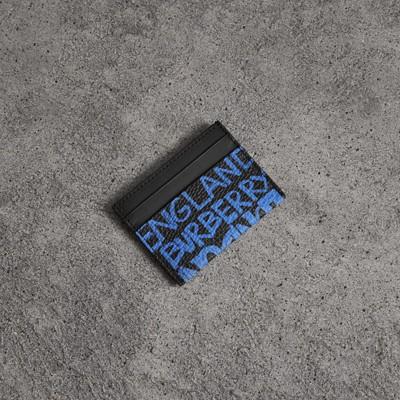 GRAFFITI PRINT LEATHER CARD CASE