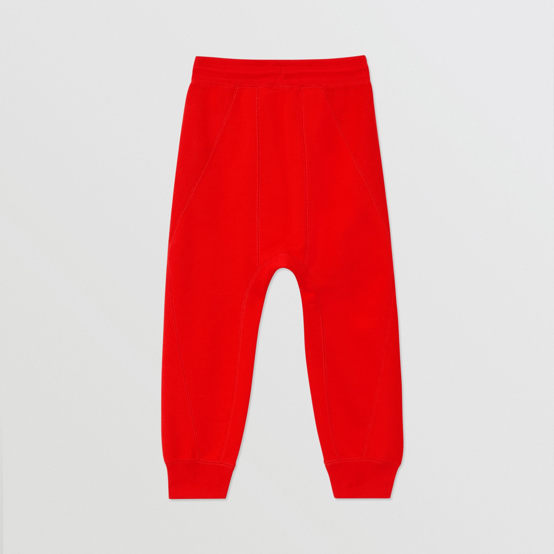 Logo Graphic Cotton Trackpants in Bright Red - Boy | Burberry United States - gallery image 3
