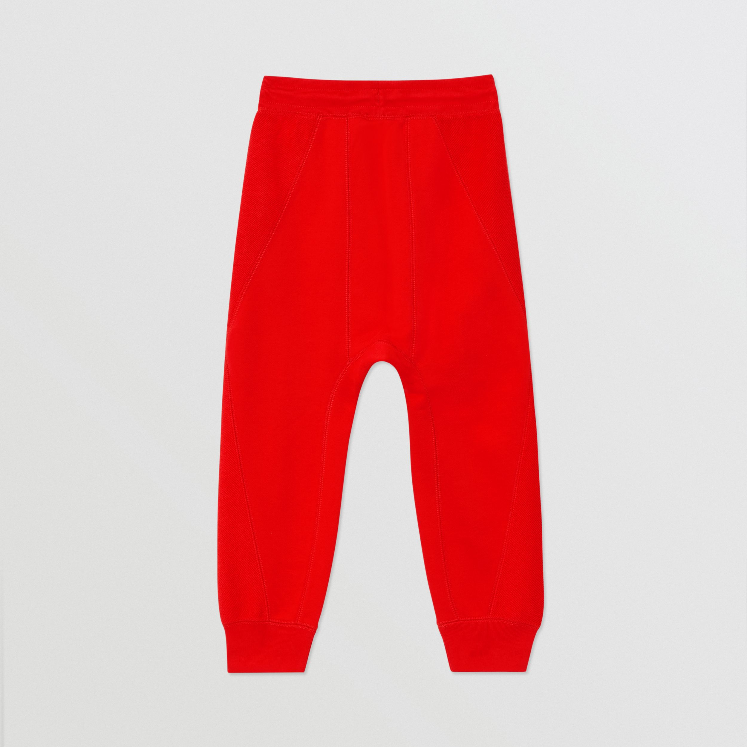 Logo Graphic Cotton Trackpants in Bright Red - Boy | Burberry - 4