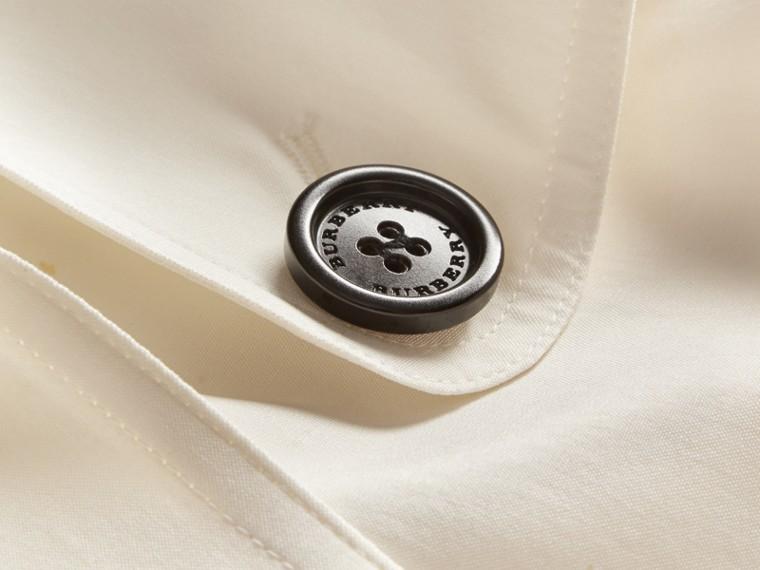 Parchment Oversize Detail Silk Trench Coat Parchment - cell image 1