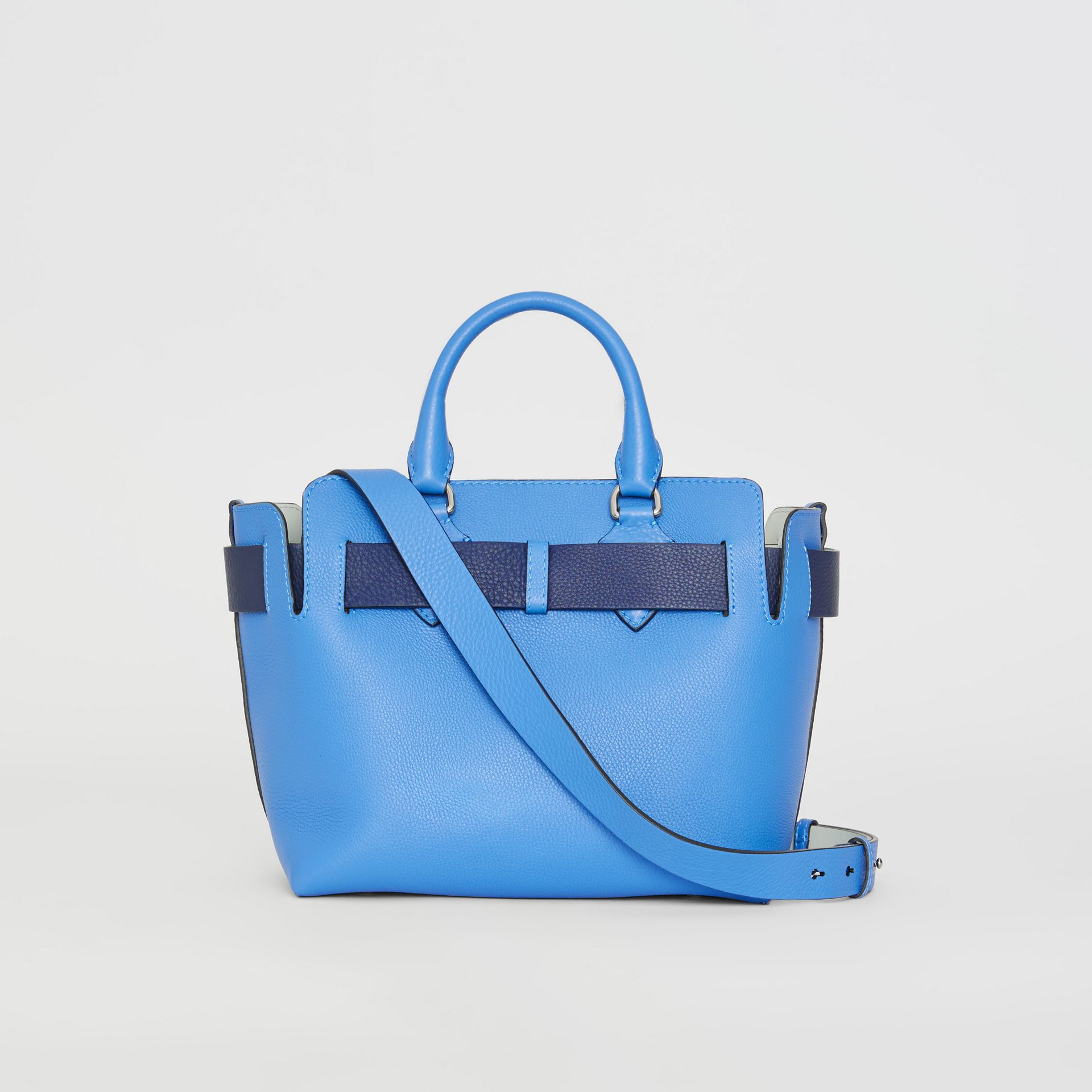 The Small Leather Belt Bag in Hydrangea Blue - Women | Burberry - gallery image 7
