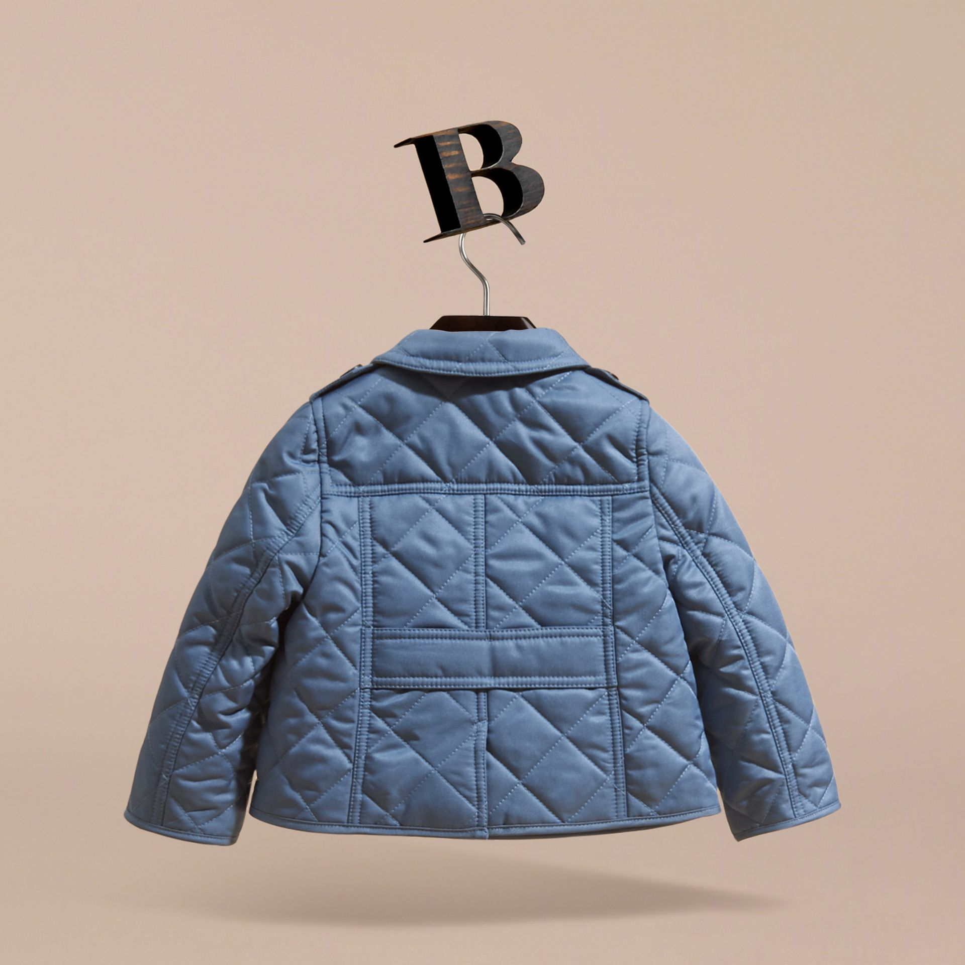 Check Detail Quilted Jacket - gallery image 4