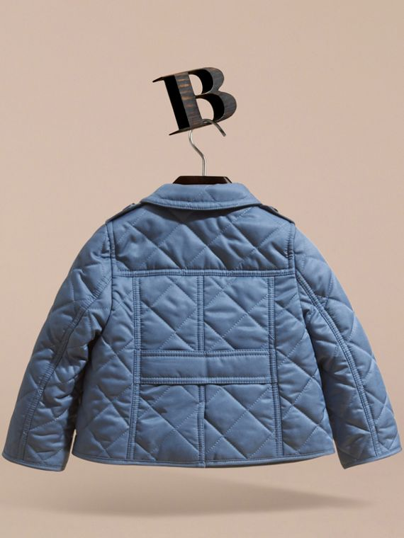 Check Detail Quilted Jacket - cell image 3