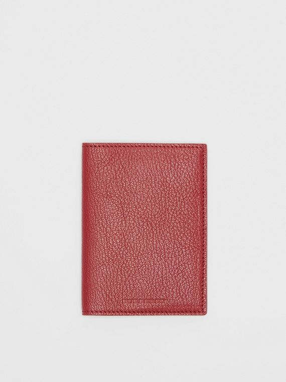 Leather Passport Holder in Crimson