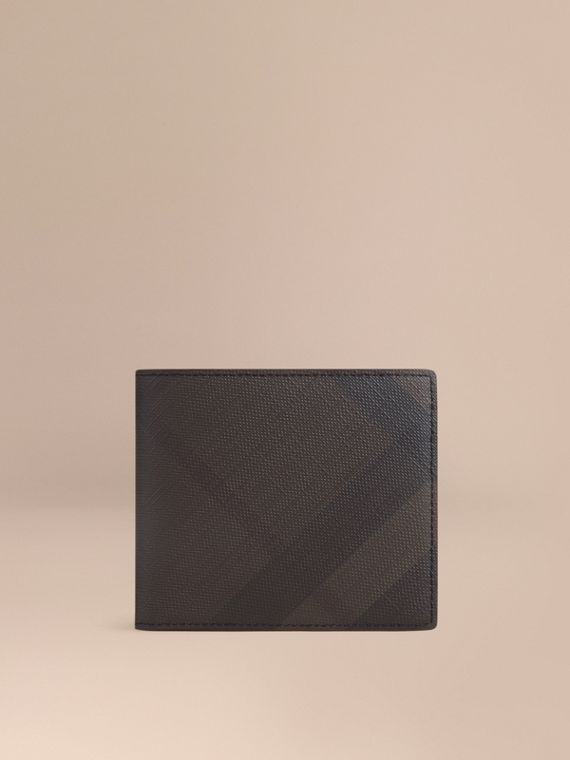 London Check Folding Wallet Chocolate/black