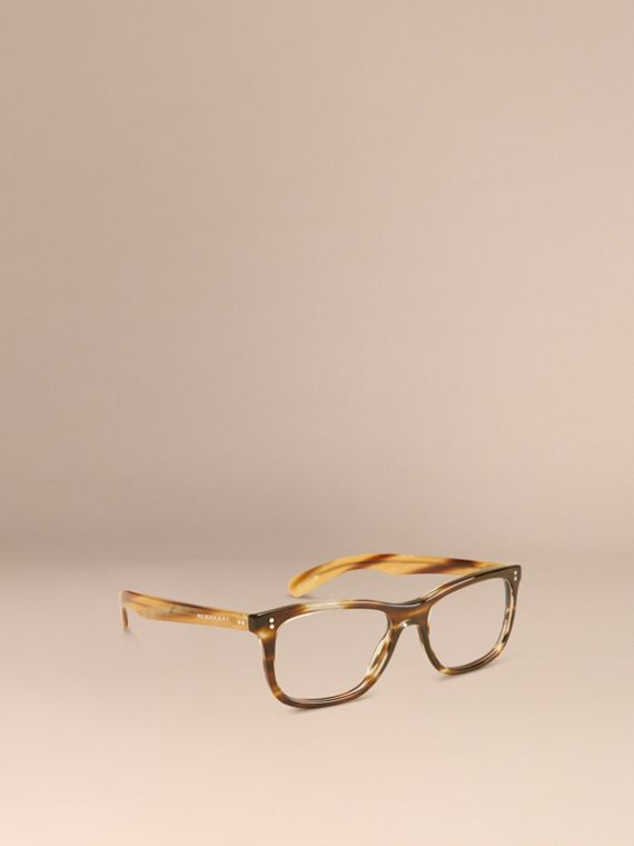 Square Optical Frames Dark Brown Horn
