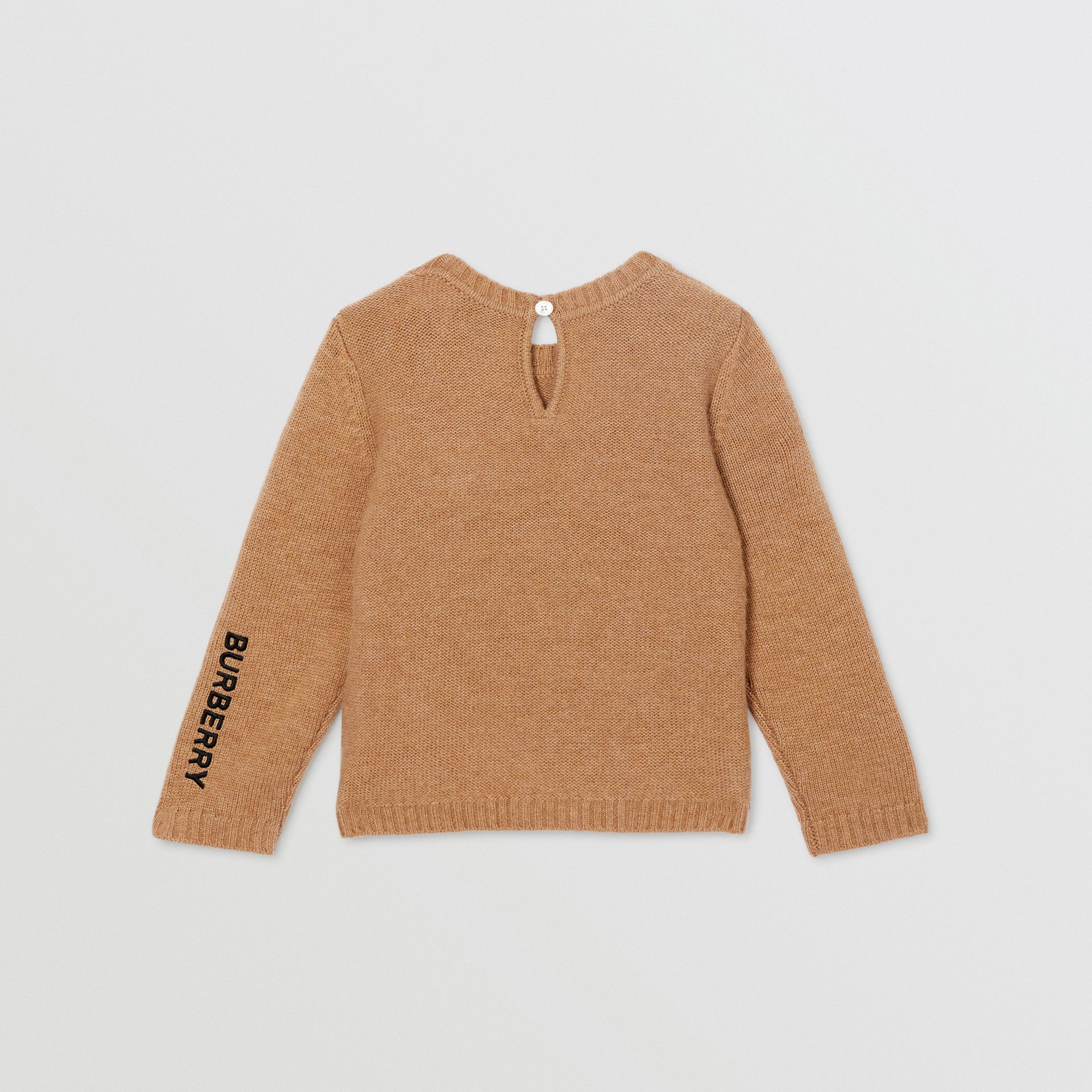 Thomas Bear Detail Wool Cashmere Sweater in Camel - Children | Burberry United States - gallery image 4