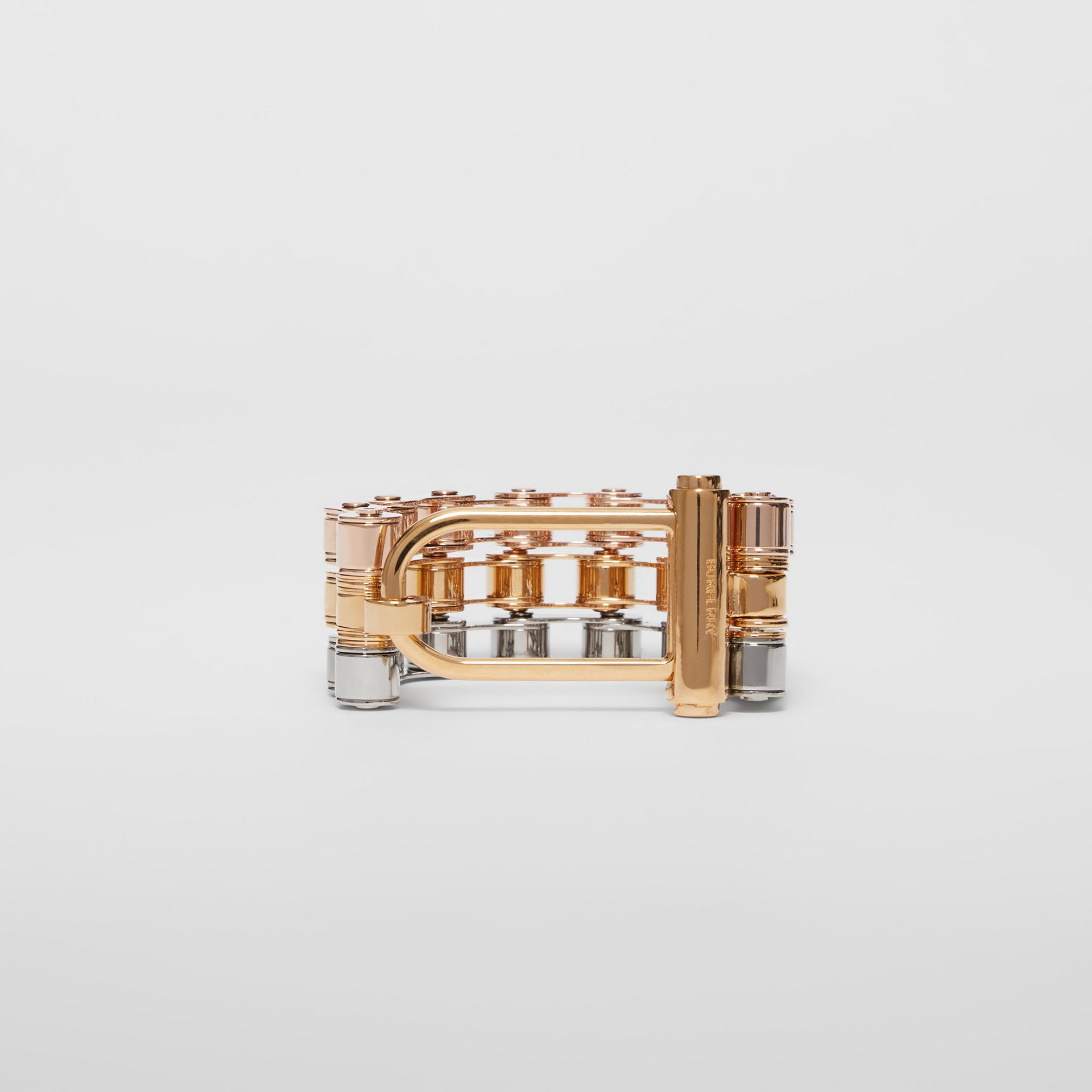 Bicycle Chain Gold and Rose Gold-plated Bracelet in Gold/pallad - Women | Burberry - gallery image 3