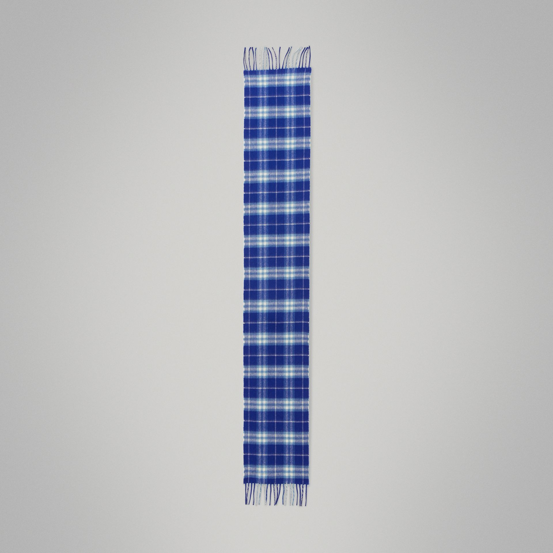 The Mini Classic Vintage Check Cashmere Scarf in Bright Lapis - Children | Burberry Australia - gallery image 2
