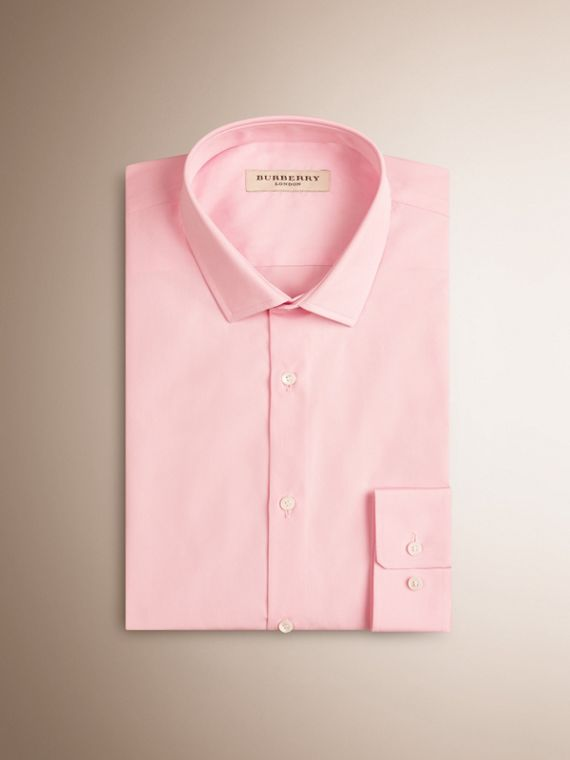 City pink Slim Fit Cotton Poplin Shirt - cell image 3