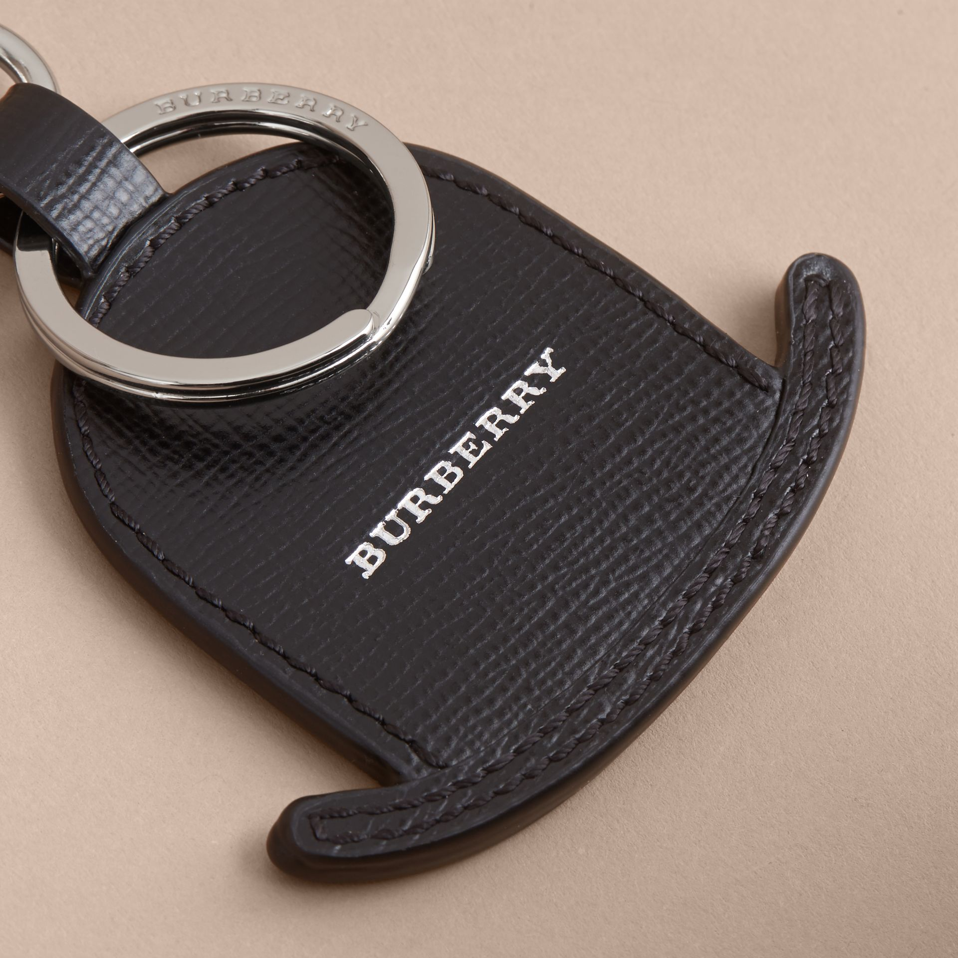 Leather Bowler Hat Key Ring - gallery image 2