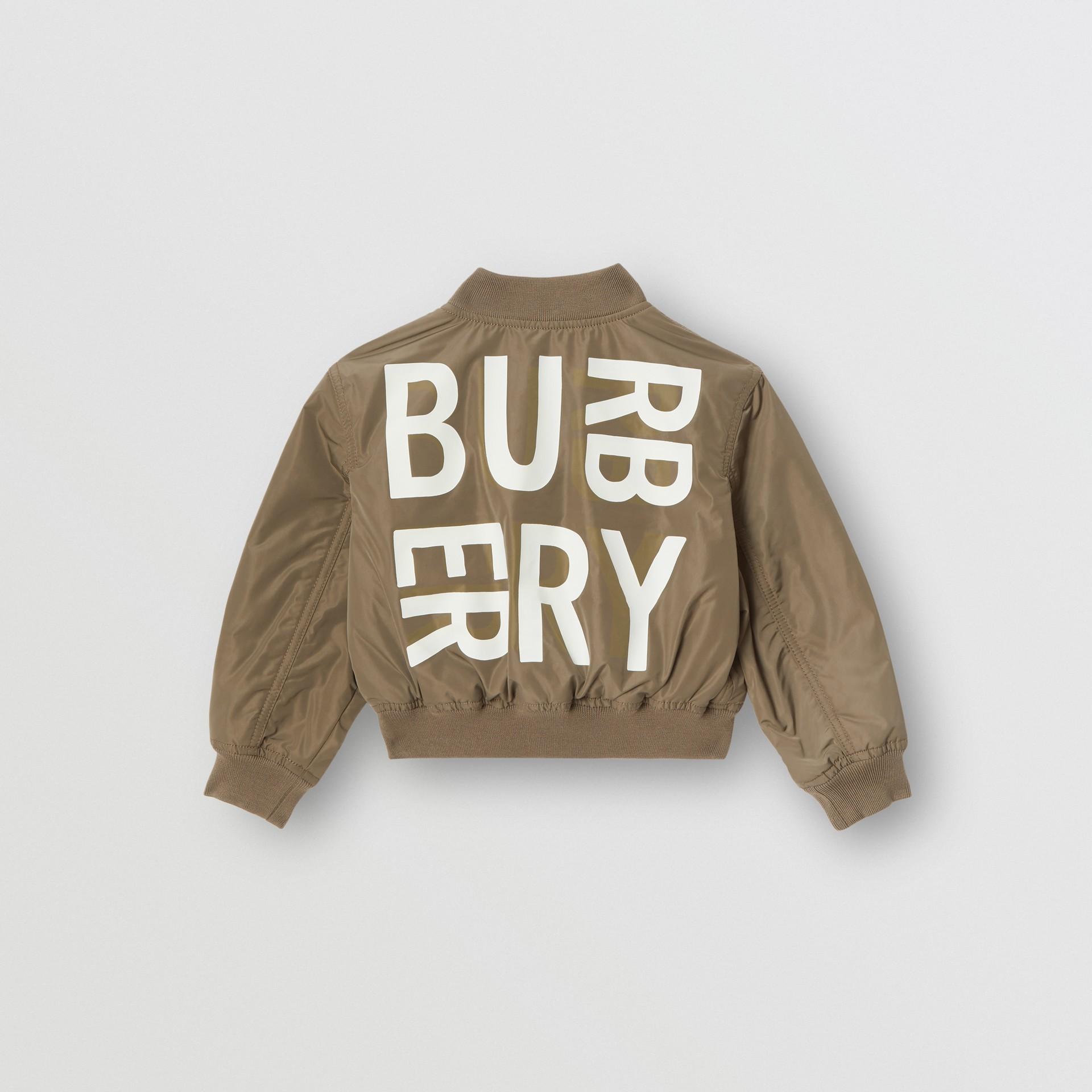 Куртка «пилот» из тафты с логотипом Burberry (Хаки) | Burberry - изображение 3