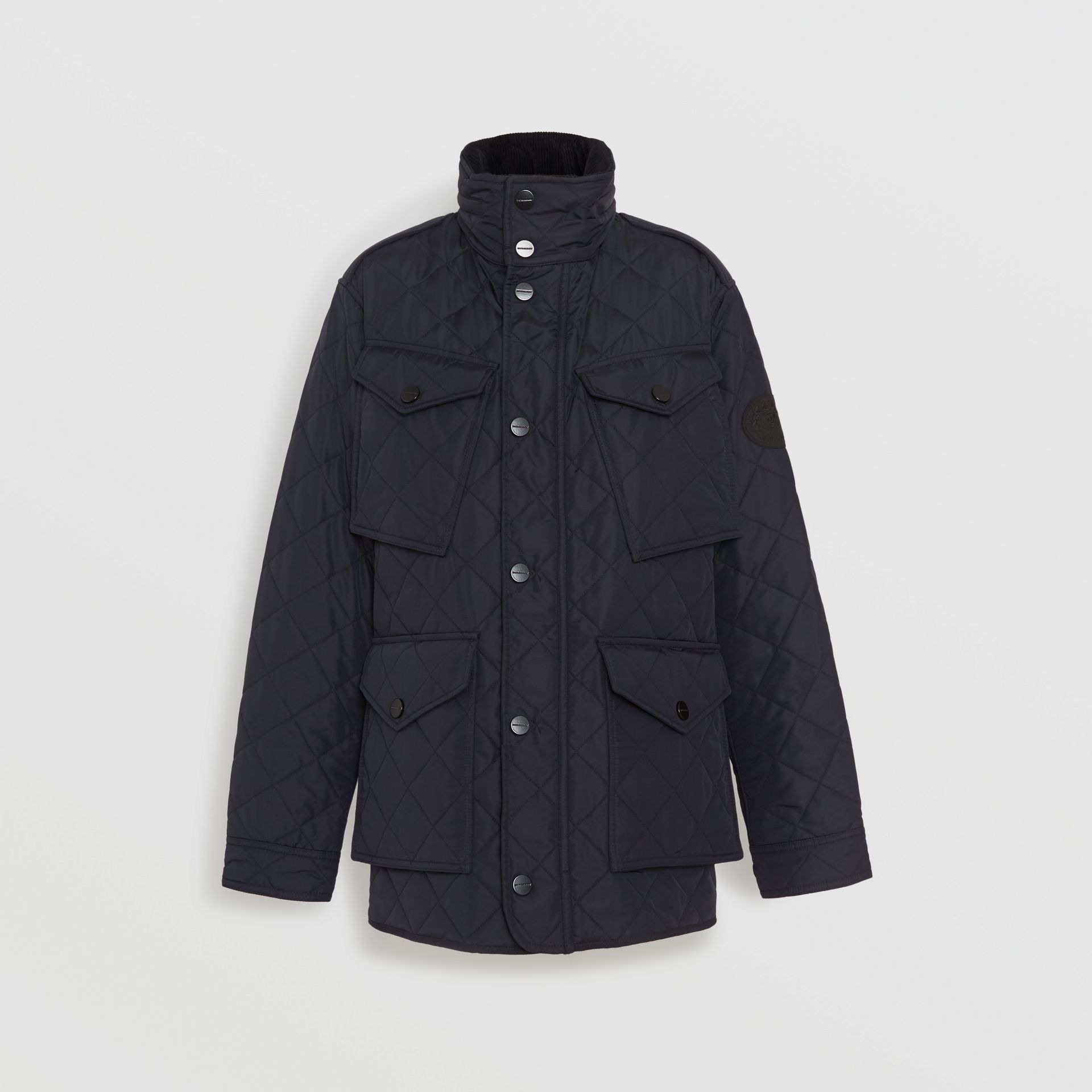 Diamond Quilted Thermoregulated Field Jacket in Navy - Men | Burberry - gallery image 6