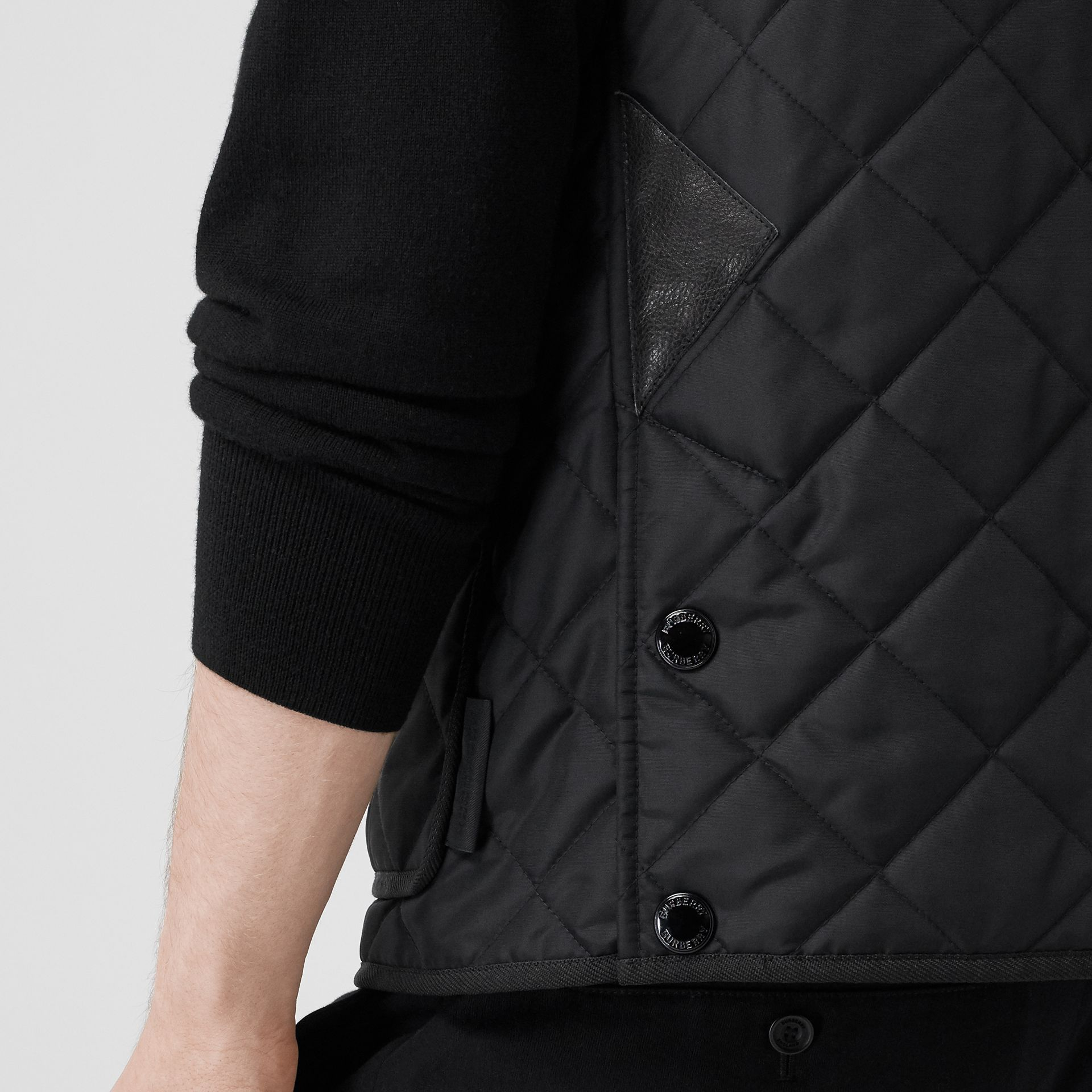 Diamond Quilted Thermoregulated Gilet in Black - Men | Burberry United States - gallery image 4