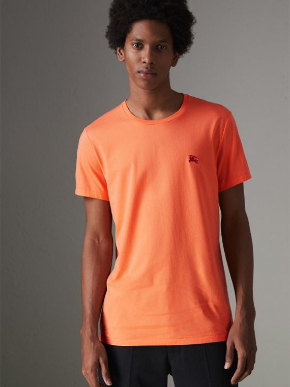 Cotton Jersey T-shirt in Bright Orange