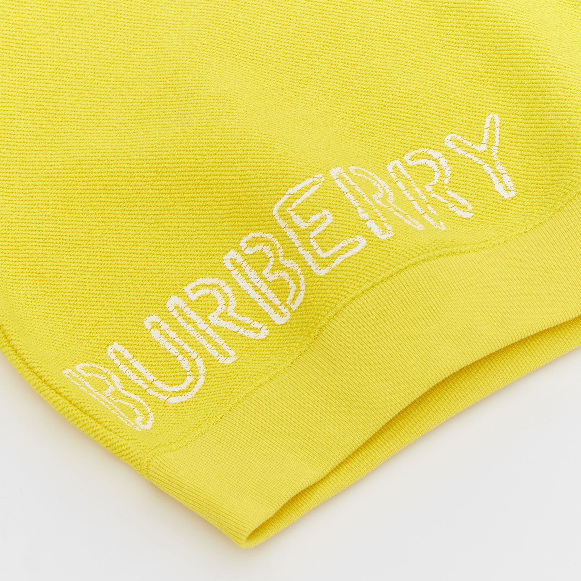 Stencil Logo Print Cotton Sweatshirt in Citron - Children | Burberry - gallery image 1