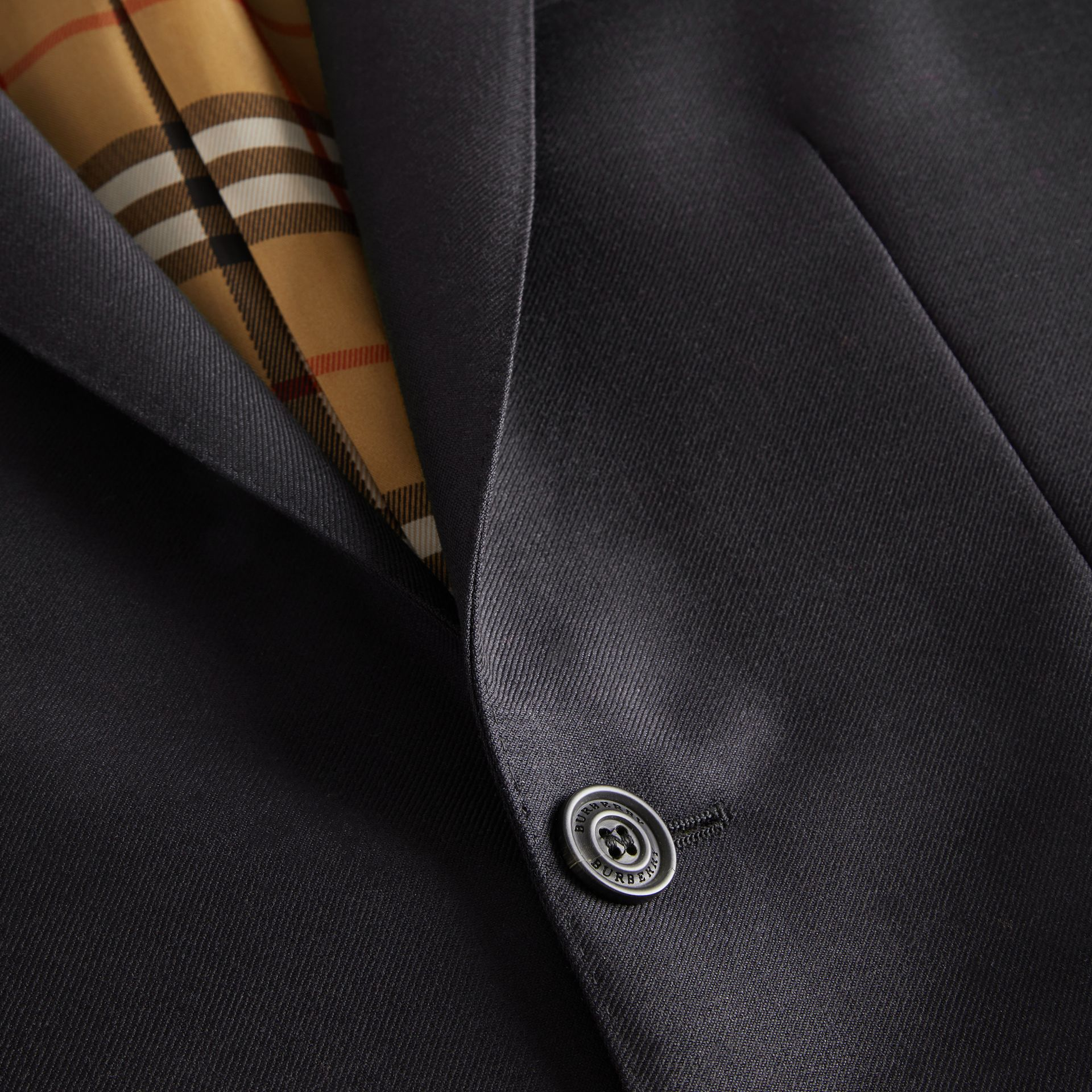 Slim Fit Wool Mohair Tailored Jacket in Black - Men | Burberry - gallery image 4