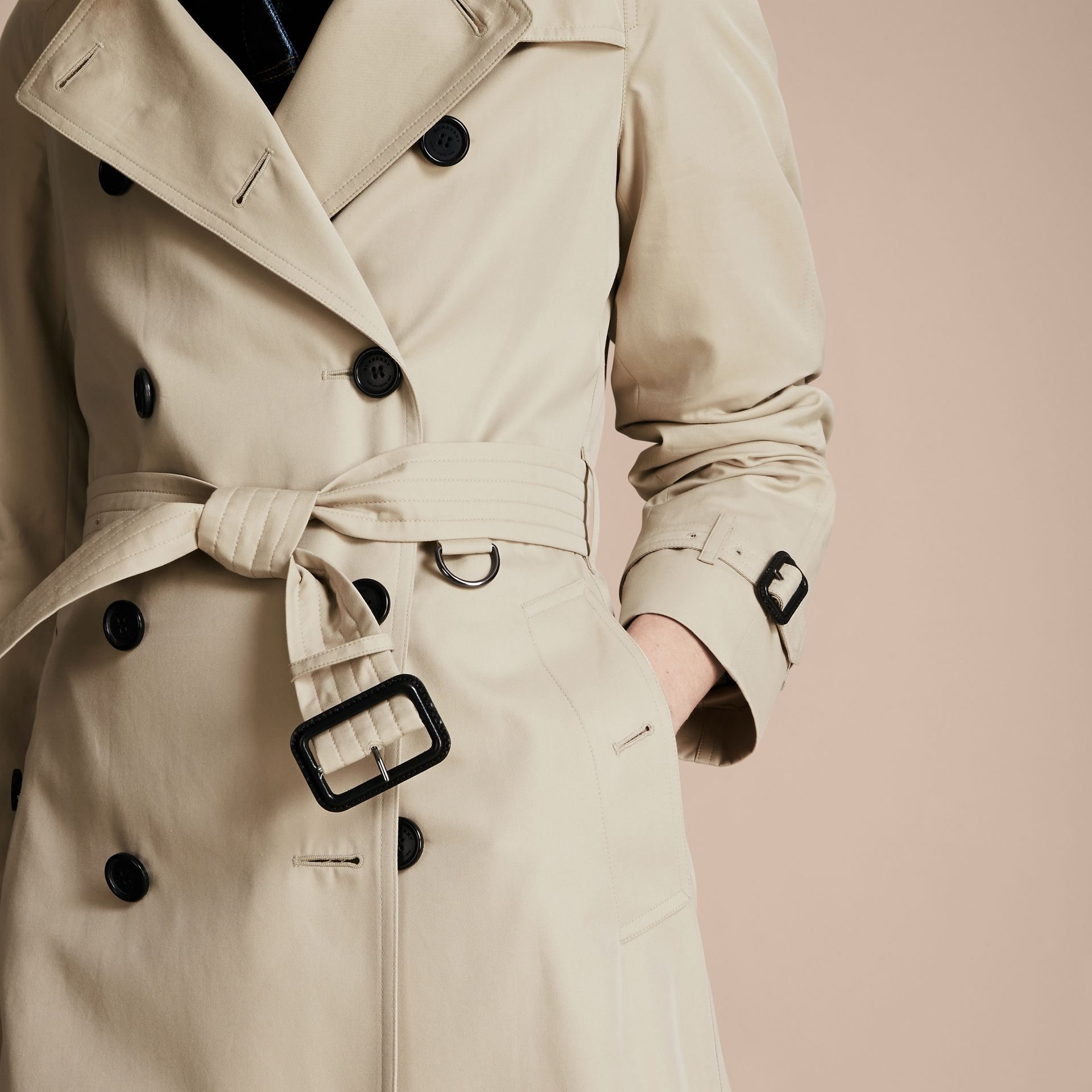 Stone The Westminster – Mid-Length Heritage Trench Coat Stone - gallery image 6