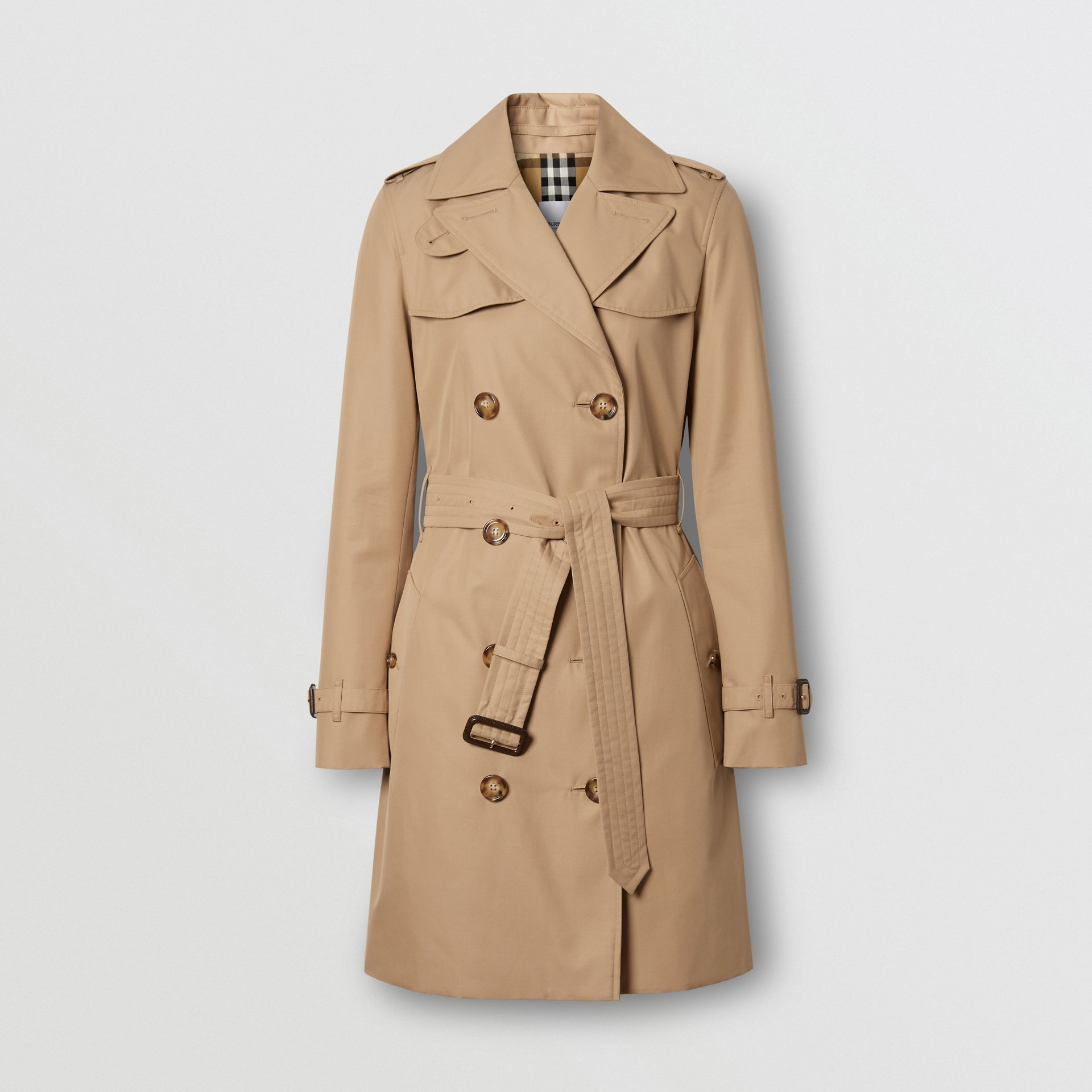 Cotton Gabardine Trench Coat in Biscuit - Women | Burberry - gallery image 3