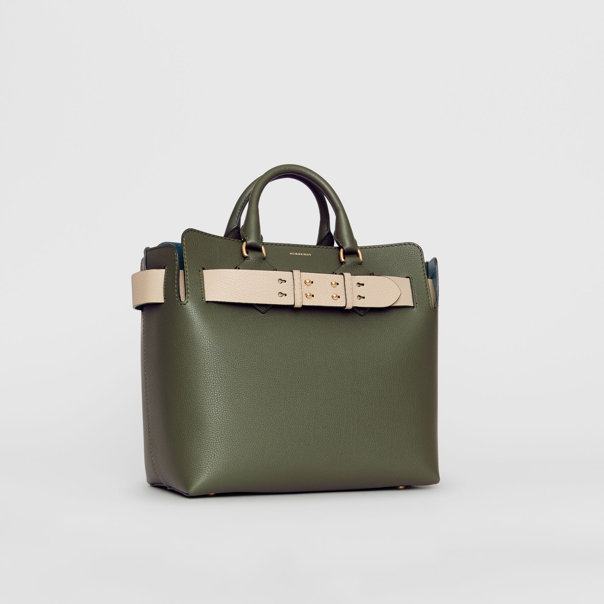 The Medium Leather Belt Bag in Sage Green - Women | Burberry United Kingdom - gallery image 6