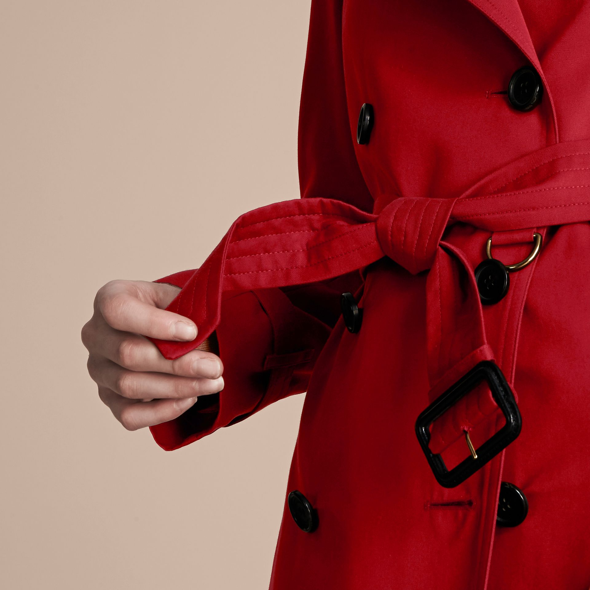Parade red The Westminster – Mid-Length Heritage Trench Coat Parade Red - gallery image 5