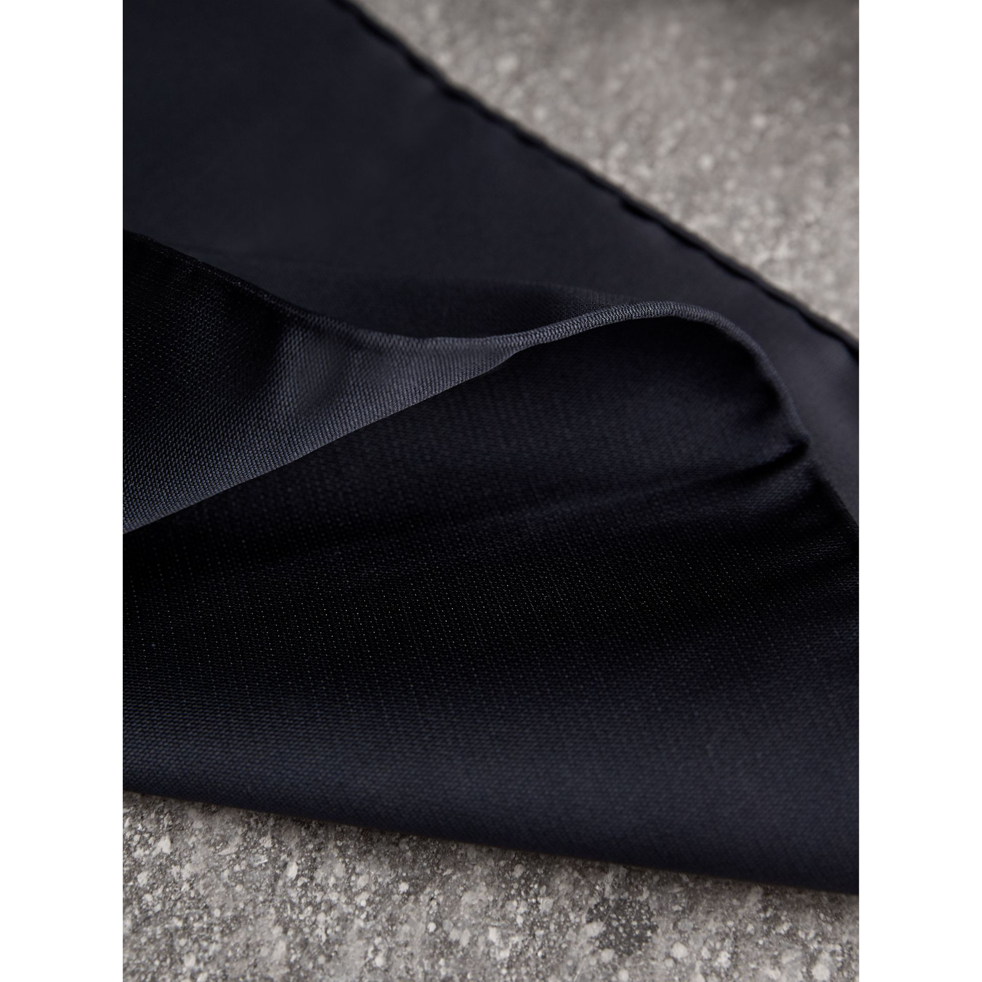 Silk Pocket Square in Midnight - Men | Burberry Canada - gallery image 2