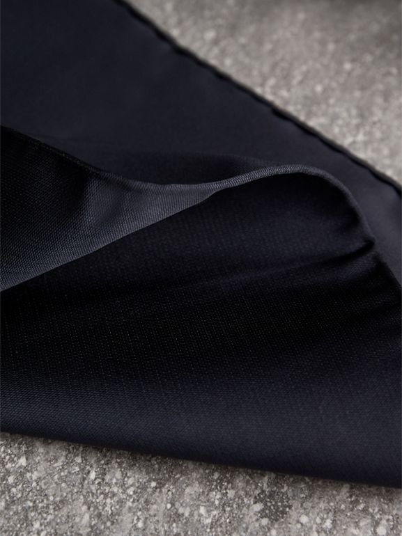 Silk Pocket Square in Midnight - Men | Burberry - cell image 1