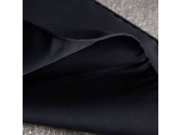 Silk Pocket Square in Midnight - Men | Burberry United Kingdom - cell image 1