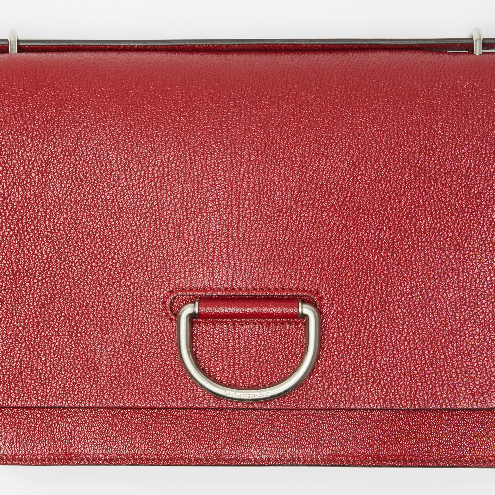 The Medium Leather D-ring Bag in Crimson - Women | Burberry Singapore - gallery image 1