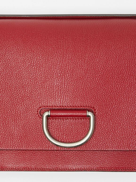 The Medium Leather D-ring Bag in Crimson - Women | Burberry Singapore - cell image 1