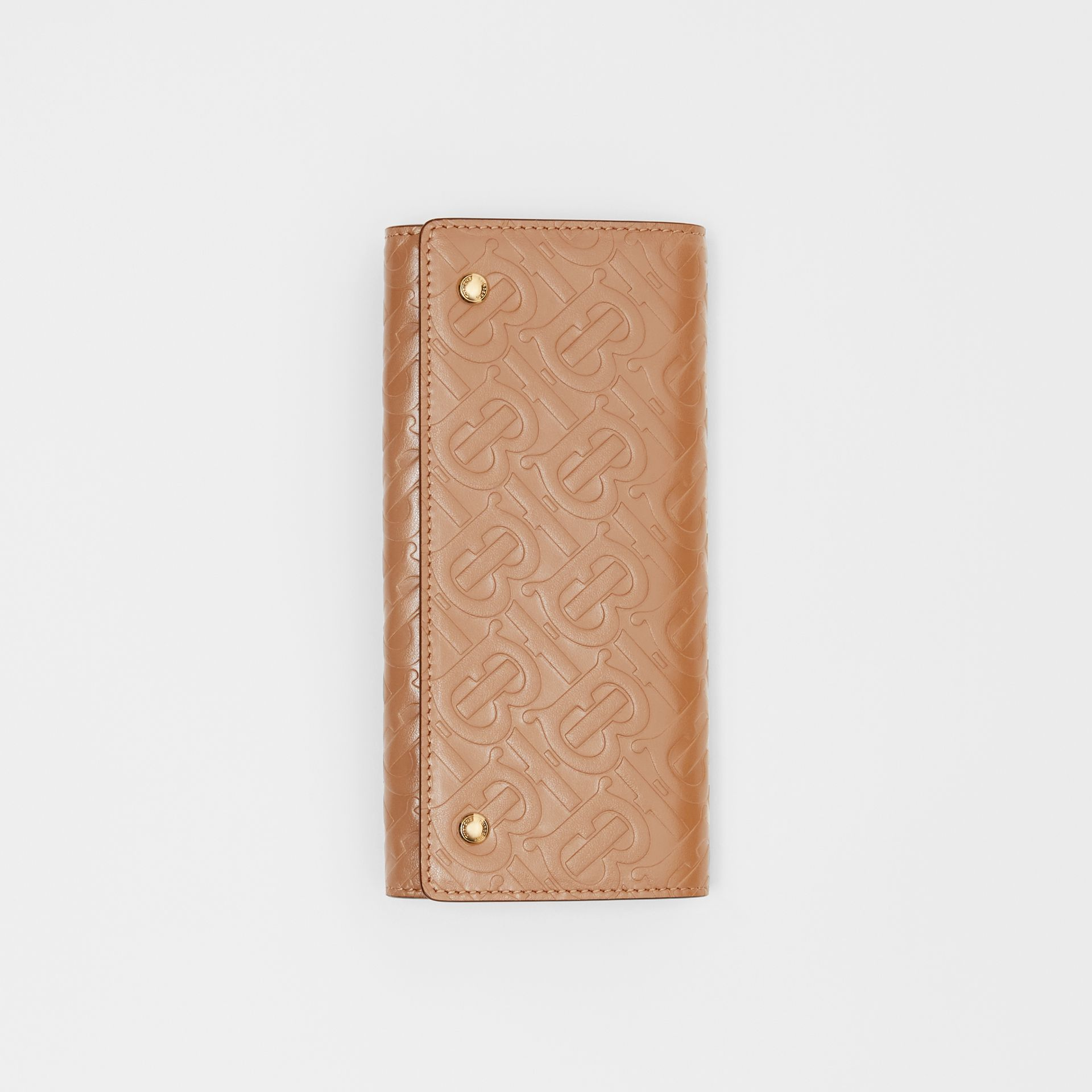 Portefeuille continental en cuir Monogram (Camel Clair) - Femme | Burberry - photo de la galerie 3