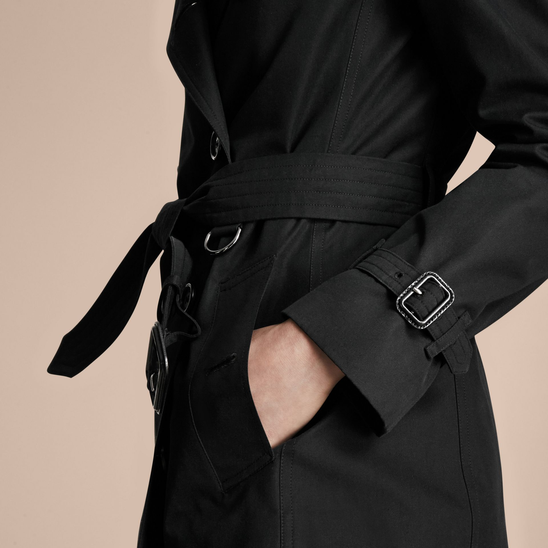 Noir The Kensington – Trench-coat Heritage mi-long Noir - photo de la galerie 5