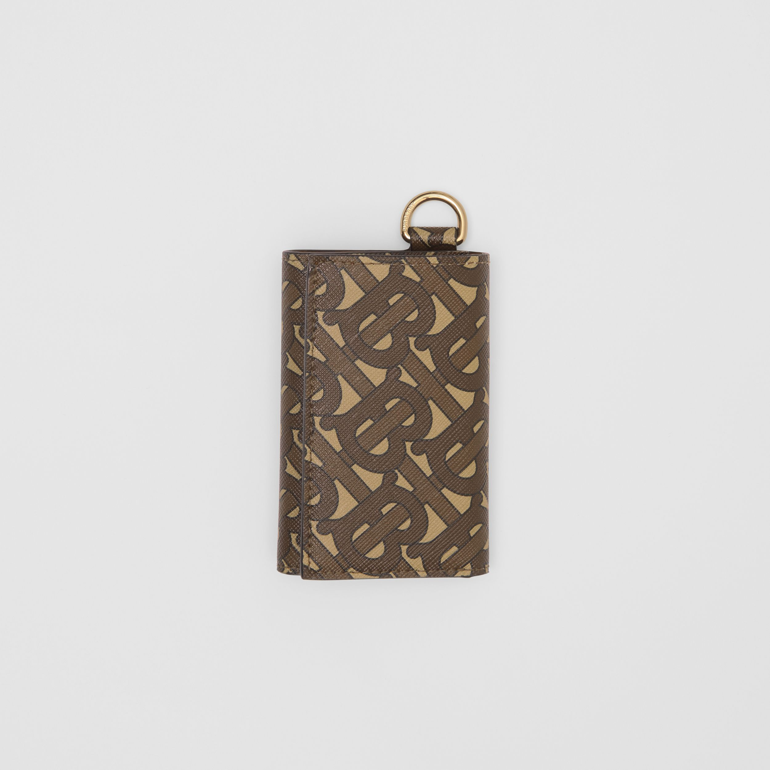 Small Monogram Print E-canvas Folding Wallet in Bridle Brown - Men | Burberry - 4