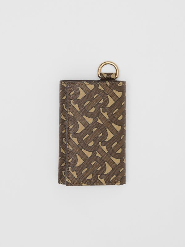 Small Monogram Print E-canvas Folding Wallet in Bridle Brown - Men | Burberry United Kingdom - cell image 2